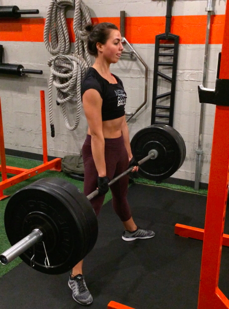 Sarah with a speedy 215b deadlift