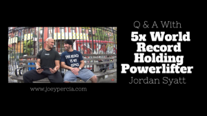 Q and A With 5x Powerlifting World Record Holder Jordan Syatt
